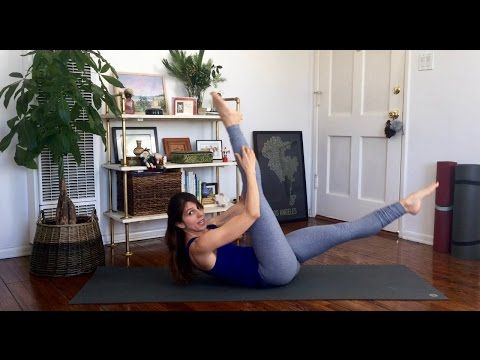 Pilates Slim Waist Workout - YouTube