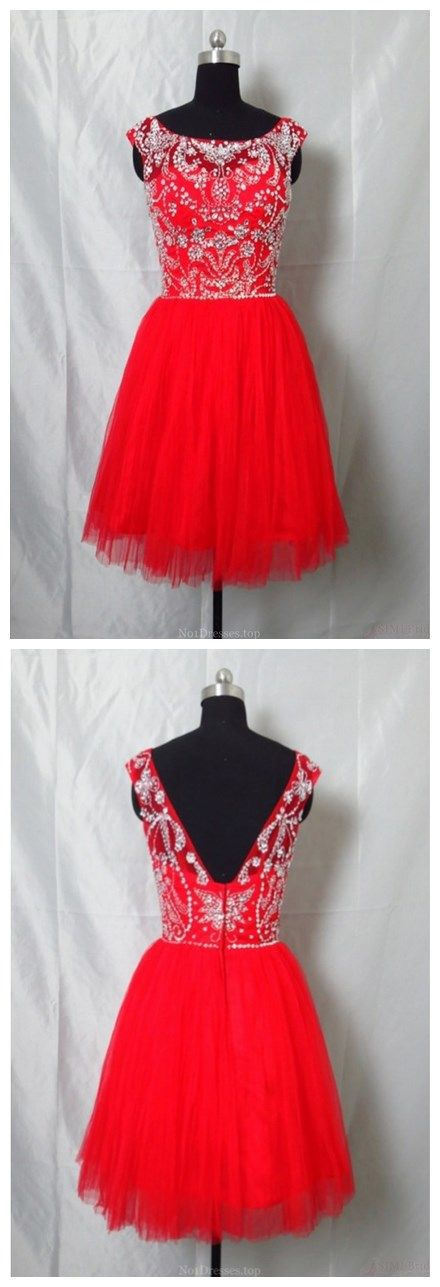 Real Made Beaded Back Zipper Short Prom Dresses New Arrival Tulle Homecoming Dresses(ED0602)