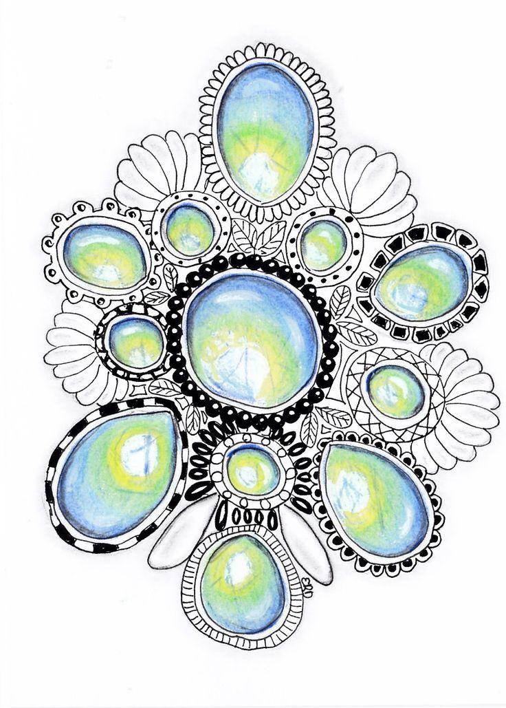zentangle gems - Google Search