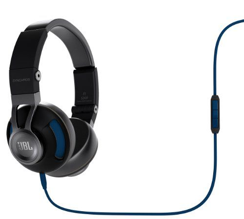 JBL Synchros S300 Premium OnEar Stereo Headphones with Universal Remote BlackBlue ** Be sure to check out this awesome product.