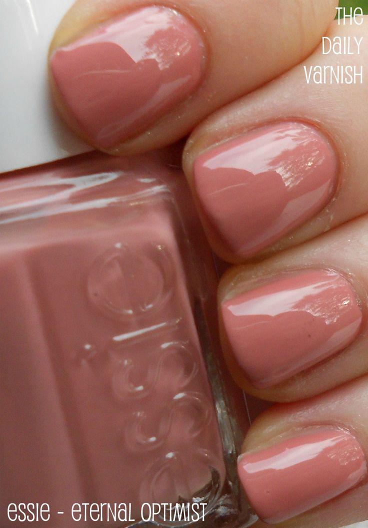 Essie - Eternal Optimist: Nails Colors, Fall Colors, Pink Nails, Pretty Colors, Nailpolish, Nails Polish, Eternity Optimist, Eternal Optimist, Essie Eternity