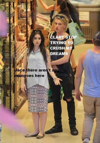 Jace and Clary go grocery shopping I laughed harder than I should havr