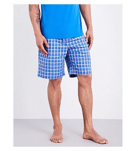 DEREK ROSE - Ranga 28 checked cotton pyjama shorts | Selfridges.com