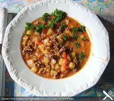 Bauern - Eintopf mit Hackfleisch, ein sehr leckeres Rezept aus der Kategorie Eintopf.