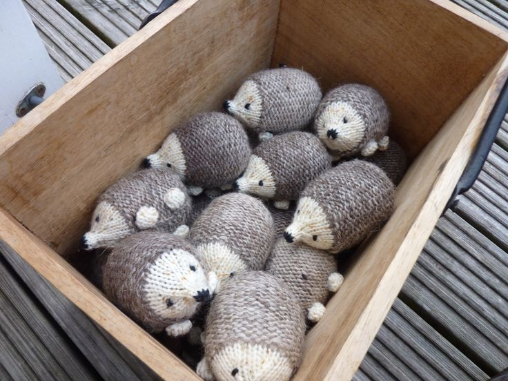 Knitted hedgehogs. Pattern from Little Cotton Rabbits.