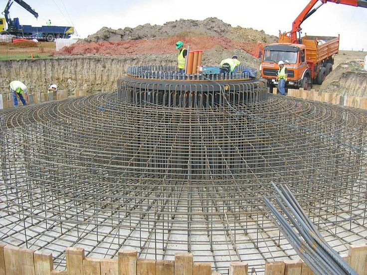 Reinforcing Of Wind Turbine Foundation Footing Work