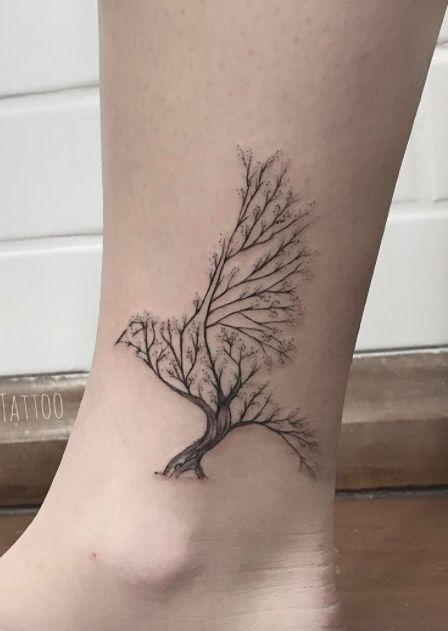 Tree Bird Tattoo