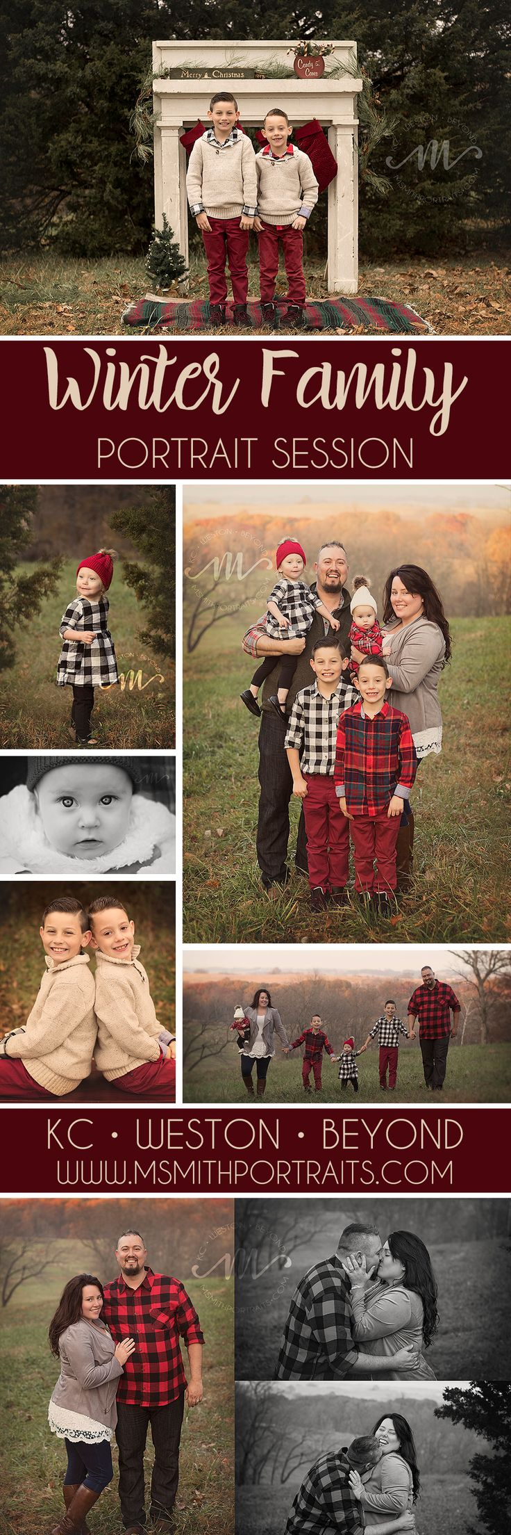 Large Winter Family Outdoor Photography