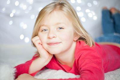 Children's indoor photo shoot