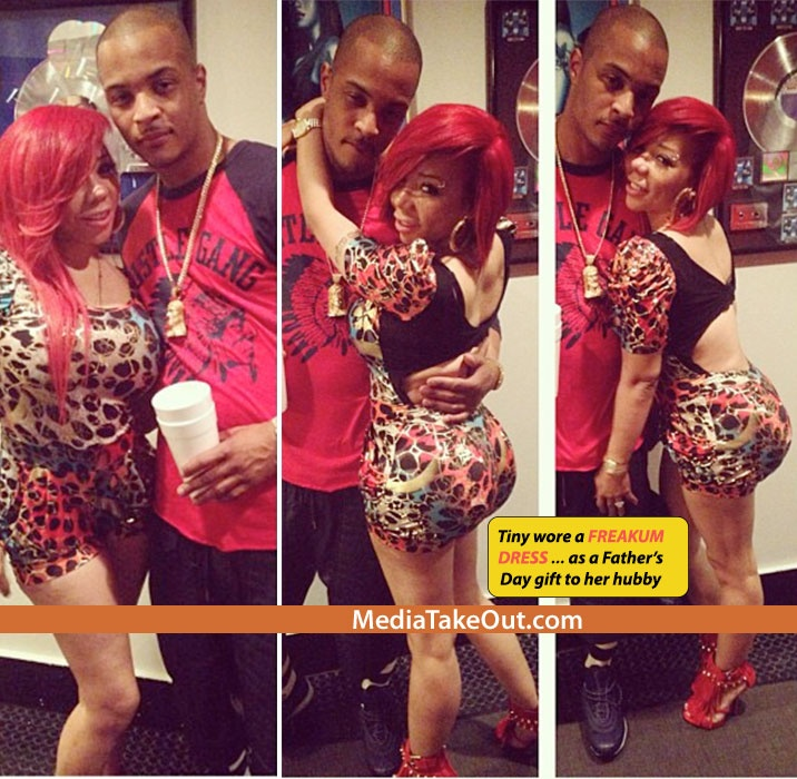 Rapper TI's Wife TINY Gets ALL DRESSED Up For Fathers Day . . . Some New Louboutins . . . A New Hairstyle . . . And A BRAND NEW AZZ!!! - MediaTakeOut.com™ 2013
