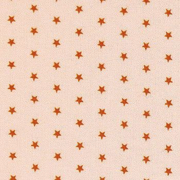 Bomull pudder m oransje stjerner