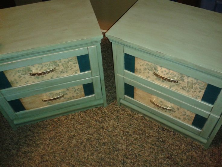 Repurposed night stands.  These night stands were found at a thrift store in Sudbury Ontario.  They were extremely ratty but with a lot of hard work and TLC they are now a vintage piece that would look great in any bedroom or cottage!