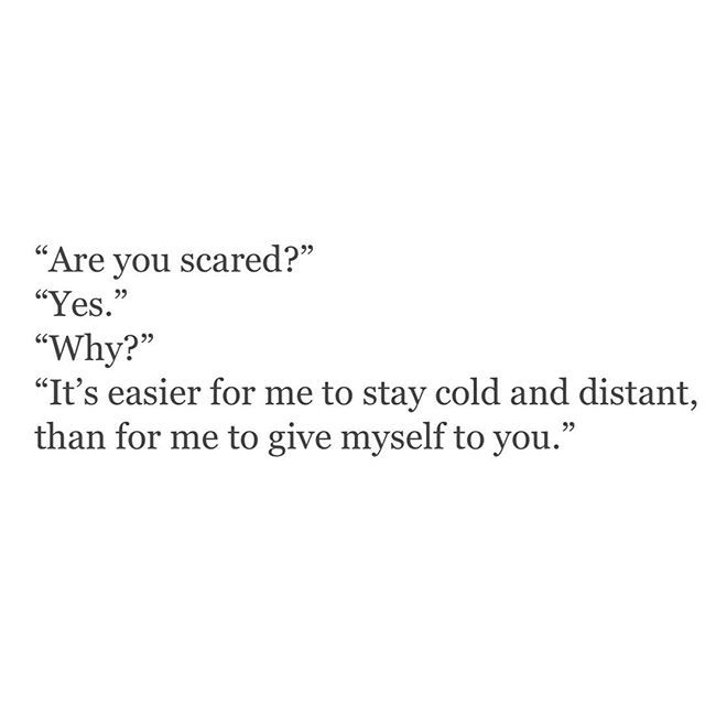 are you scared?