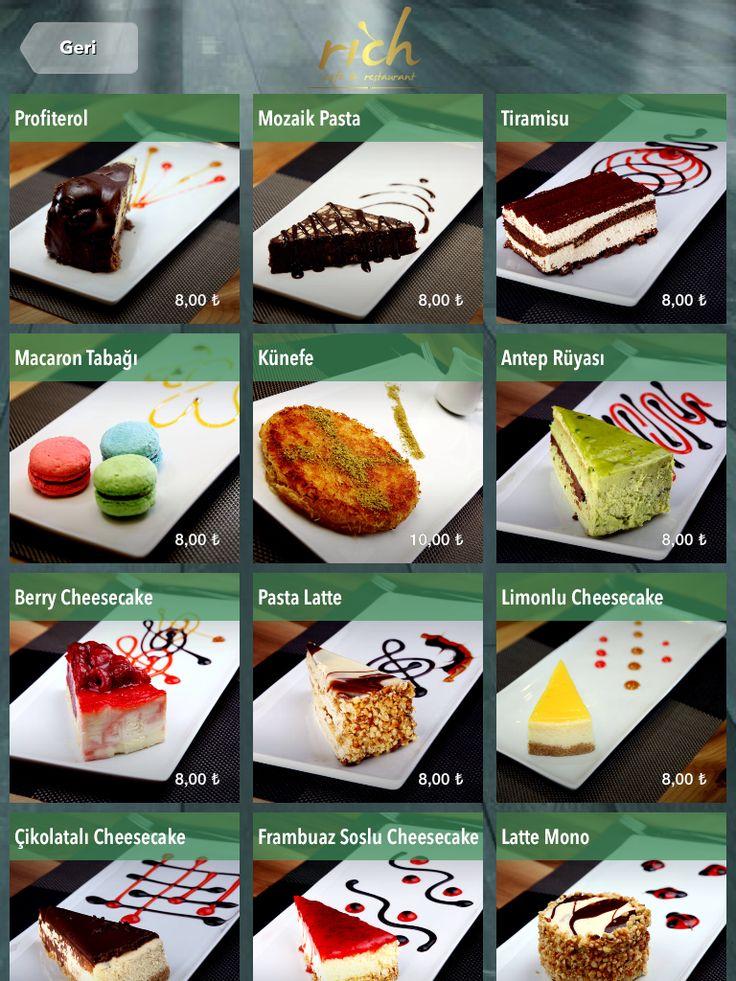 http://www.finedinemenu.com/  Desserts  Tatlı Tablet Menü Dijital Menü