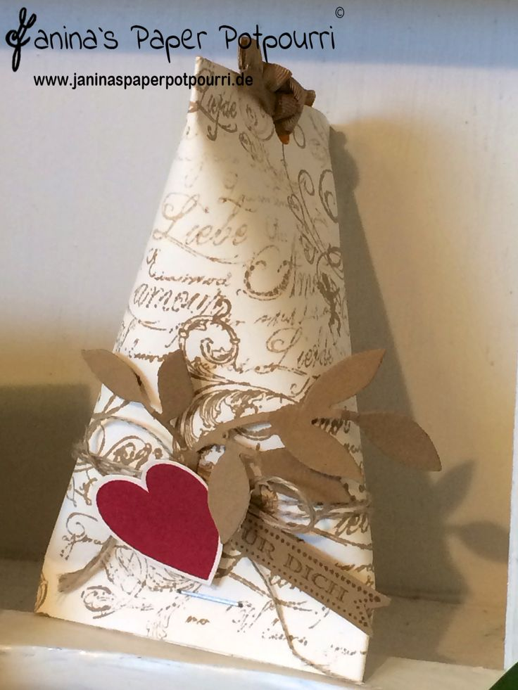 Goodie / Sour Cream Container / Verpackung / Hochzeit / Stampin' Up! / Hearts a Flutter / Famose Fähnchen www.janinaspaperpotpourri.de