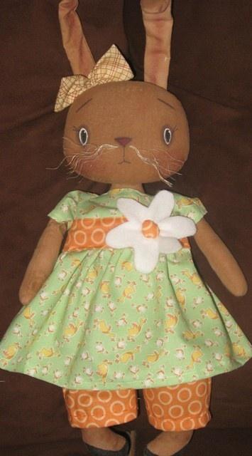 Primitive Raggedy Bunny Spring Rabbit