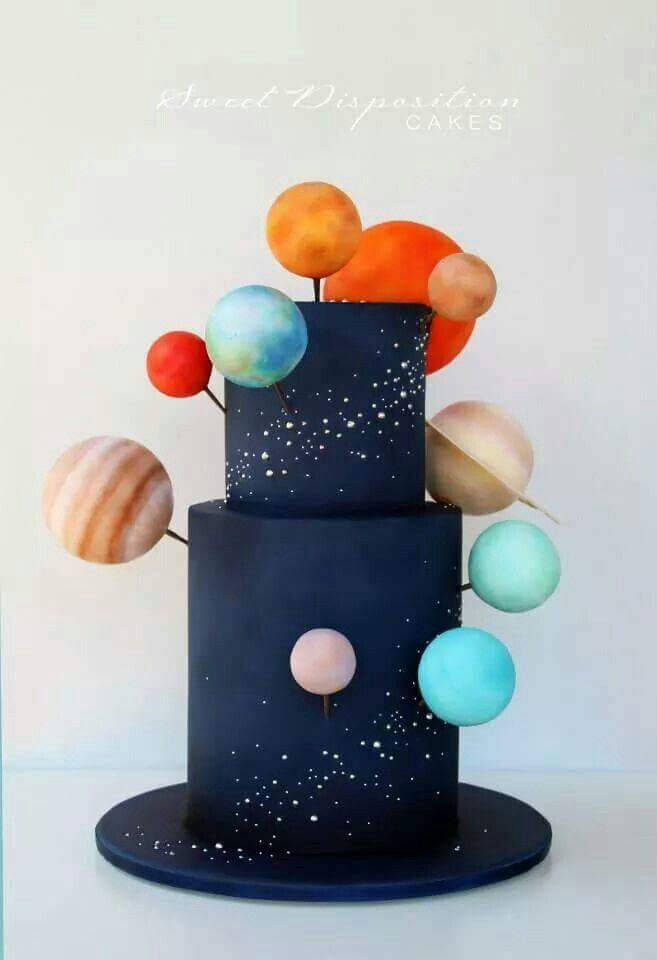 Solar system cake - For all your cake decorating supplies, please visit http://www.craftcompany.co.uk/