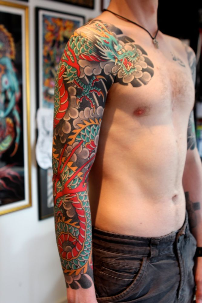 229 best dragon koi and phoenix sleeve ideas images on for How much does a full sleeve tattoo cost