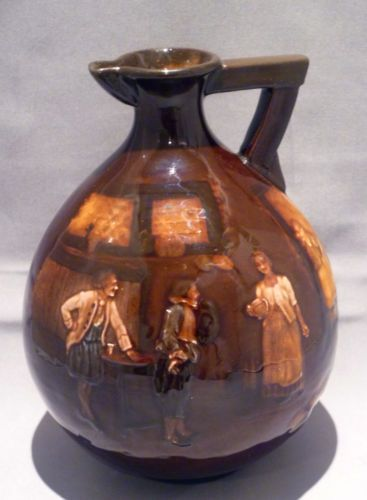Royal Doulton Tavern Scenes Kingsware Whisky Flagon Globular Flask Jug | eBay
