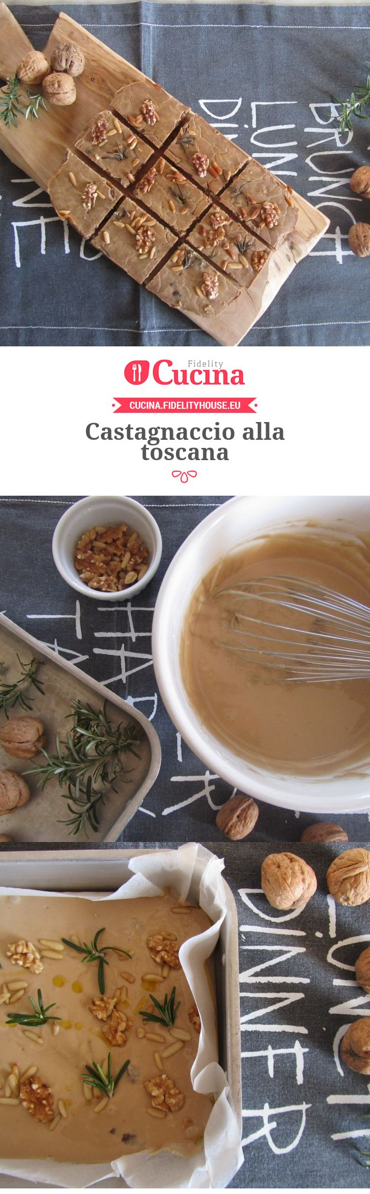 Castagnaccio alla toscana della nostra utente Francesca. Unisciti alla nostra Community ed invia le tue ricette!