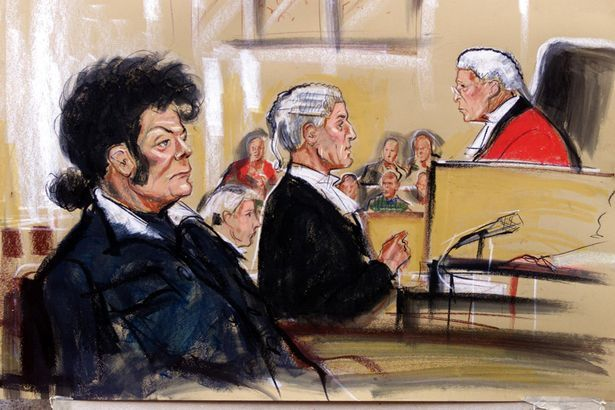 Artist Impression of glam rock star Gary Glitter