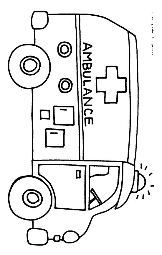 ambulance coloring pages | ... coloring pages and sheets can be found in the Bus color page gallery