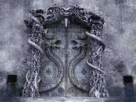 """THE MYSTERIOUS LAST VAULT DOOR AT PADMANABHASWAMY TEMPLE...""""a Secret Door in this Temple is holding secret knowledge & more Treasure Troves....the only snag is, it has been locked by sound waves from a secret chant lost in time!!"""" (The Temple's earlier Hidden Treasure Trove, now undergoing inventory by Supreme Court appointed Panel has been estimated to be around $ 22 Bln!)"""