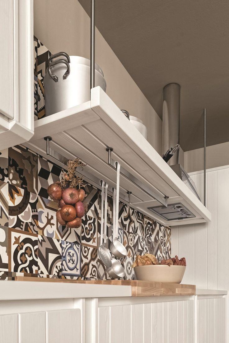 Cucina lineare in abete gesso MAESTRALE 04 Collezione Maestrale by Scandola Mobili