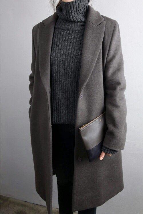 Professionelles Outfit für den Winter, wenn Sie Farbe hinzufügen möchten, tragen Sie eine …