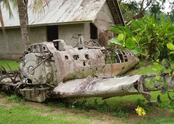 A plane wreck in New Britain Province, PNG  http://www.pagahillestate.com/exploring-world-war-ii-relics/