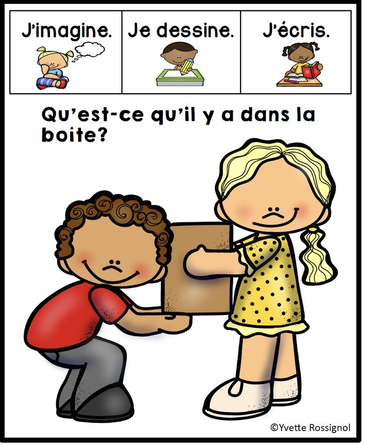 French oral communication or creative writing! 100 prompts for the paperless classroom or for the interactive notebook! French primary-grade 4.