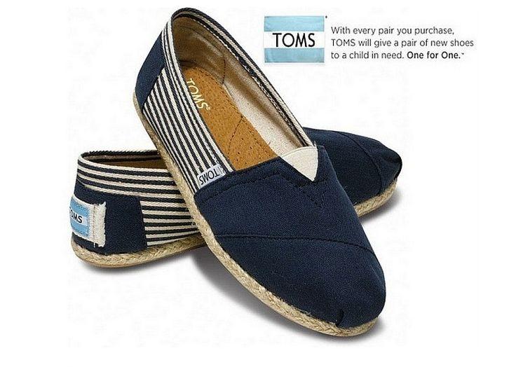 Toms Flax Soles Shoes Women in Blue : toms outlet, your description $17
