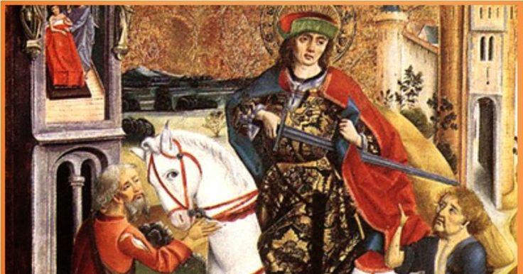 San Martín Caballero, glorioso y bendito padre de la Providencia, acudo a ti para solicitar tu poderosa ayuda, para que mediesa...