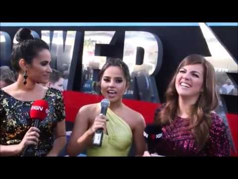 Becky G - Power Rangers Movie Premiere in Los Angeles (Interview)