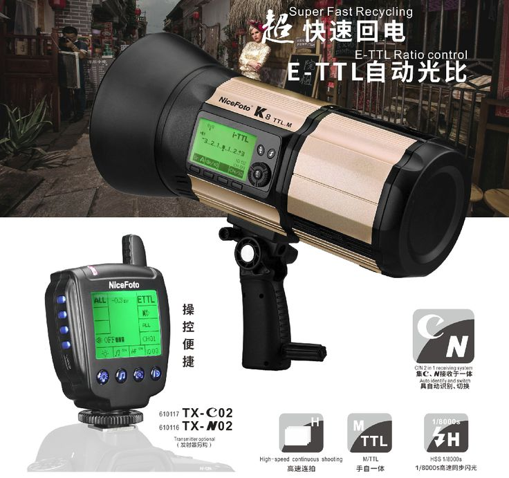 Аккумуляторный моноблок NiceFoto K8 TTL-M + синхронизатор TX-N02 (800 Дж, TTL, для Nikon)