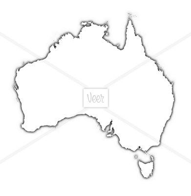 Australia Map Outline Tattoo
