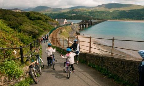The Guardian Readers' Top UK Bike Ride - Mawddach Trail running from Dolgellau to Barmouth.  Try it for yourself when you visit us