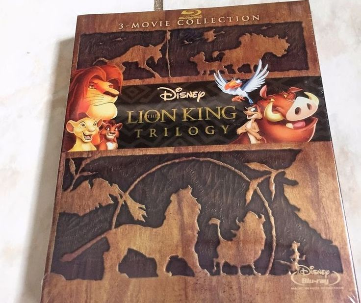 Lion King Trilogy 1 1.5 2 Blu-Ray Disc 3-Movie Collection New & Sealed!
