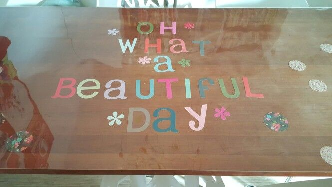 Tafelziel- Oh what a beautiful day! -letters uit Flow