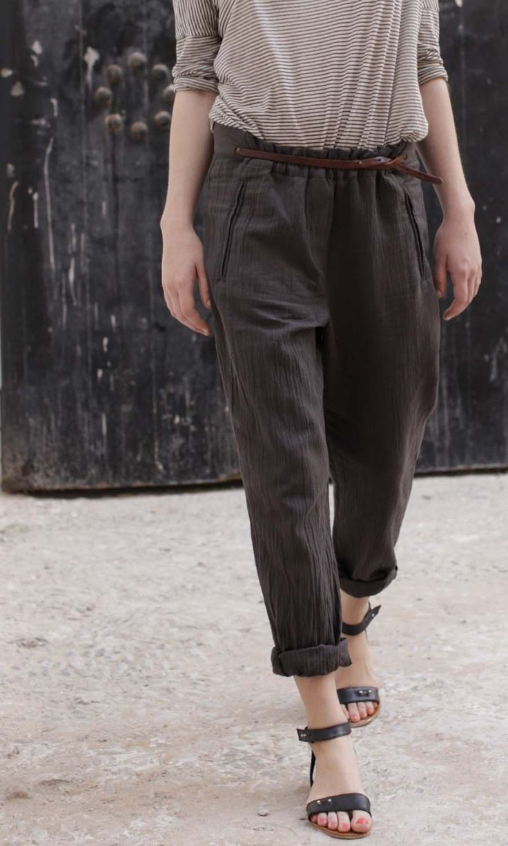Plümo: Outfits, Fashion, Plumo, Style, Summer, Products, Belted Trousers