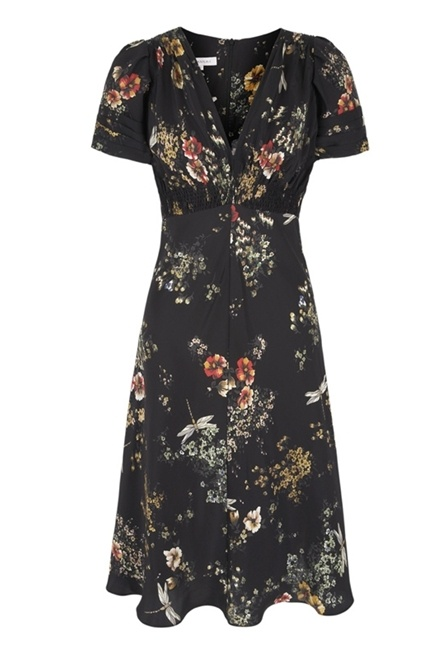1930s Dragonfly Print Tea Dress