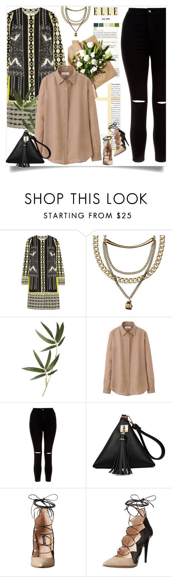 """Ruthie Davis shoes"" by zalarupar ❤ liked on Polyvore featuring Etro, Crate and Barrel, Uniqlo, New Look and Ruthie Davis"