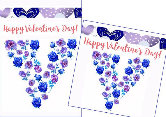 Romantic Valentine Violet Rose. Happy Valentines Day Card. Valentines Card. Valentines Day Decor. Valentines Greeting. Valentines Printable. Violet Purple Blue Romantic Card in 5x7, 8x10 inches, 105x150, 135x135 mm. US$3.00 www.etsy.com/listing/505422577
