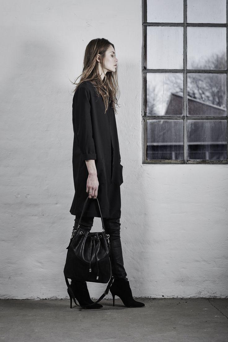 Margaretha Bag black nubuck // Markberg