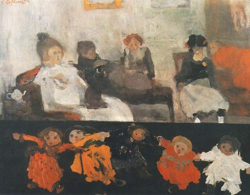 """""""Dolls"""" (1906) by Witold Wojtkiewicz (Polish, Warsaw - 1879 - Warsaw 1909) National Museum, Warsaw via http://artyzm.com/e_obraz.php?id=1967"""