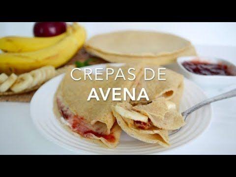 Masa de crepas de avena dulces o saladas (fácil & deliciosas)
