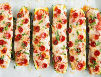 Bateaux de pizza aux zucchinis