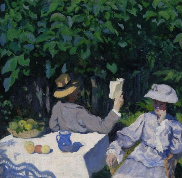 Karoly Ferenczy (Hungarian 1862-1917) - Summer Morning, 1905 {Oil on canvas. Hungarian National Gallery (Magyar Nemzeti Galéria), Budapest} - - Ferenczy's first exhibit in 1903 in Budapest marked his entry into making a living as an artist. In 1906, the painter was offered a teaching position at the Hungarian Royal Drawing School, now the Hungarian University of Fine Arts. He returned to Nagybanya in summers to teach, and has been strongly associated with the colony… - Németh György