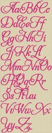 Love Lace Machine Embroidery Alphabet $4.70