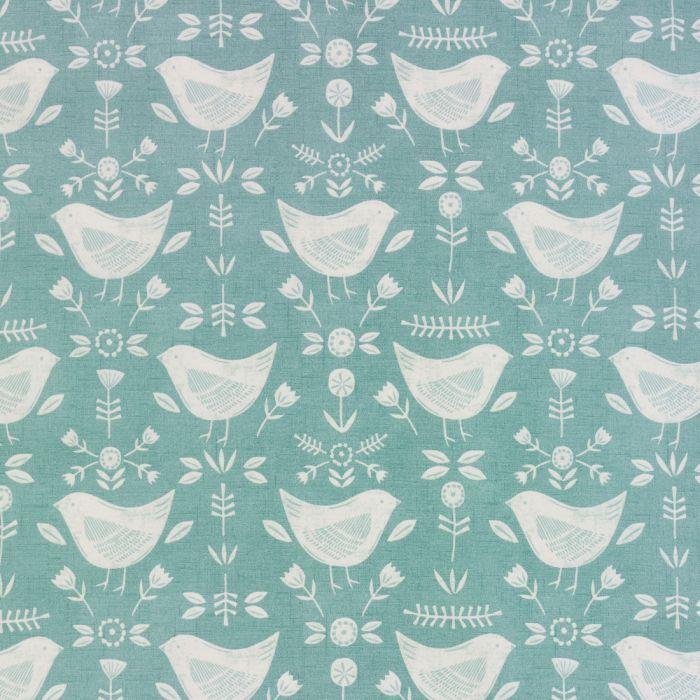 Narvik Duck Egg Birds Scandinavian Matt Finish Oilcloth Wipe Clean Tablecloth Oil Cloth Scandinavian Narvik